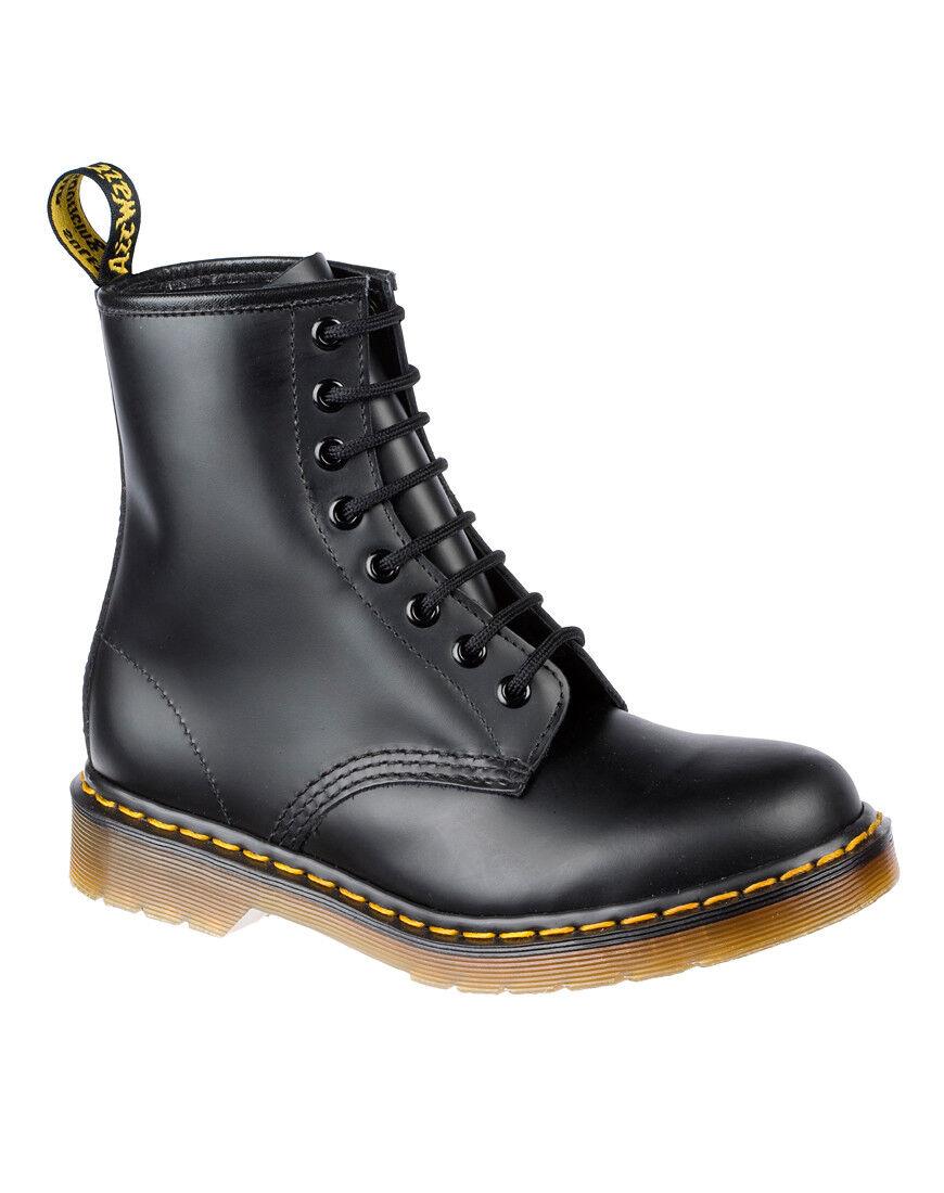 NBW Nuevo Para Hombre DR MARTENS Negro Liso 1460 8 Ojales Zapatos UK 13 EU 48 nos 14
