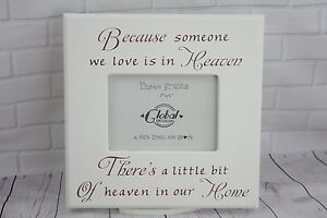 remembrance photo frame beacause someone you love in heaven picutre