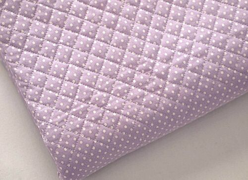 Polka dot cotton Pre-quilt padded JQ30 3mm Violet Cotton Ready quilted Fabric