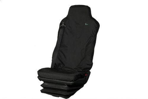 Iveco//MAN//Mercedes Truck Seat Cover-SINGLE DRIVERS Black TAILORED//WATERPROOF