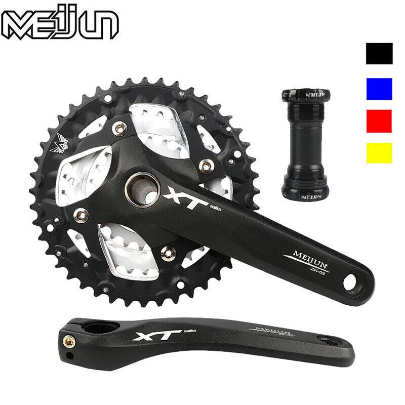 MEIJUN 9/27 Speed MTB Bike Crankset 22/32/44T Chainring Crank Fit Shimano SRAM