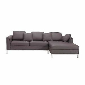 Astounding Beliani Sectional Sofa L Brown Leather Oslo Gmtry Best Dining Table And Chair Ideas Images Gmtryco