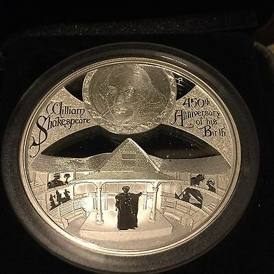 Niue 2014 2$ 1 Oz William Shakespeare Silver Proof coin