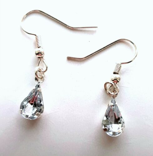 Pendientes de diamante de imitación de color hecho a mano