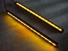 LED indicators strips Pair with machined cnc black case amber leds, LED