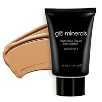 Glominerals Gloprotective Liquid Foundation Satin Ii Natur Light - 1.4 Oz 40 Ml