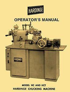 hardinge hc hct chucking machine lathes operator s manual 1122 ebay rh ebay com hardinge lathe manuals pdf hardinge lathe manuals pdf
