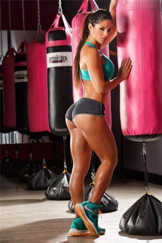 "Michelle Lewin Sex Model Bodybuilding Fitness Motivational Poster 36/""x24/""  M26"