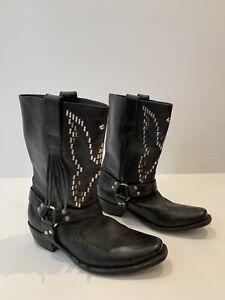 Golden Goose Deluxe Brand Black Leather