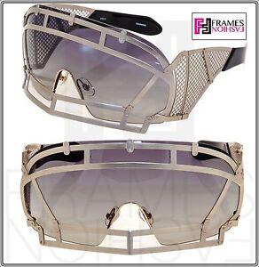97590457c716 KTZ x Linda Farrow Football Helmet Sunglasses Gold Grey Gradient ...