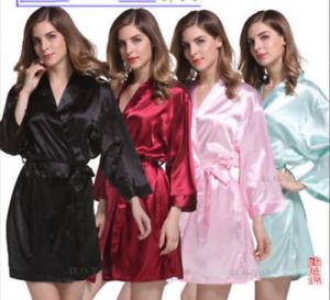 Women-robe-Silk-Satin-Robes-Wedding-Bridesmaid-Bride-Gown-kimono-Solid-robe