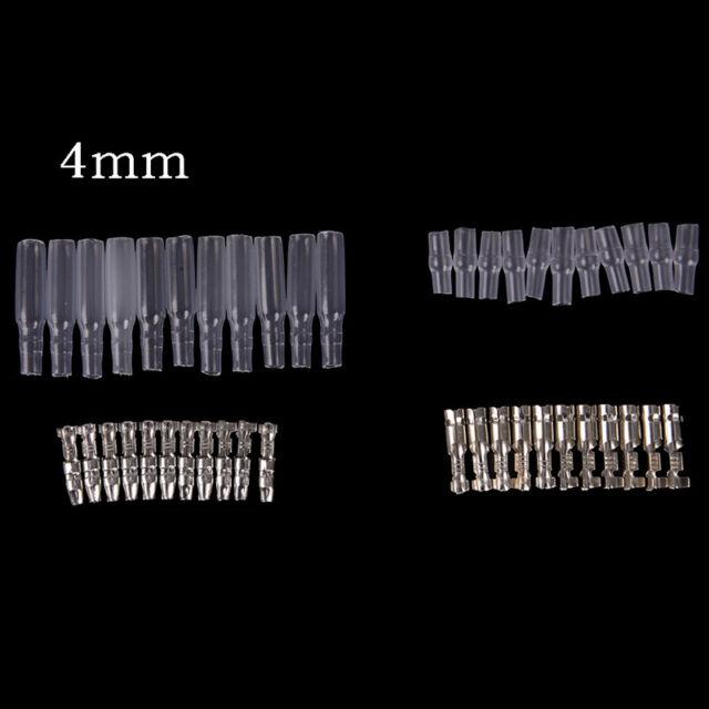 10set bullet terminal car electrical wire connector diameter 4mm pin set UK`$j