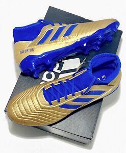 adidas predator 19 fg gold blau