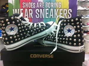 converse all star nere borchie