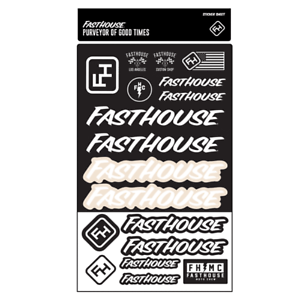 Fasthouse Sheet Of Unisex Accessory Sticker Black White One Size