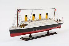 """RMS Titanic Ocean Liner 25"""" - Handmade Wooden Model Ship NEW"""