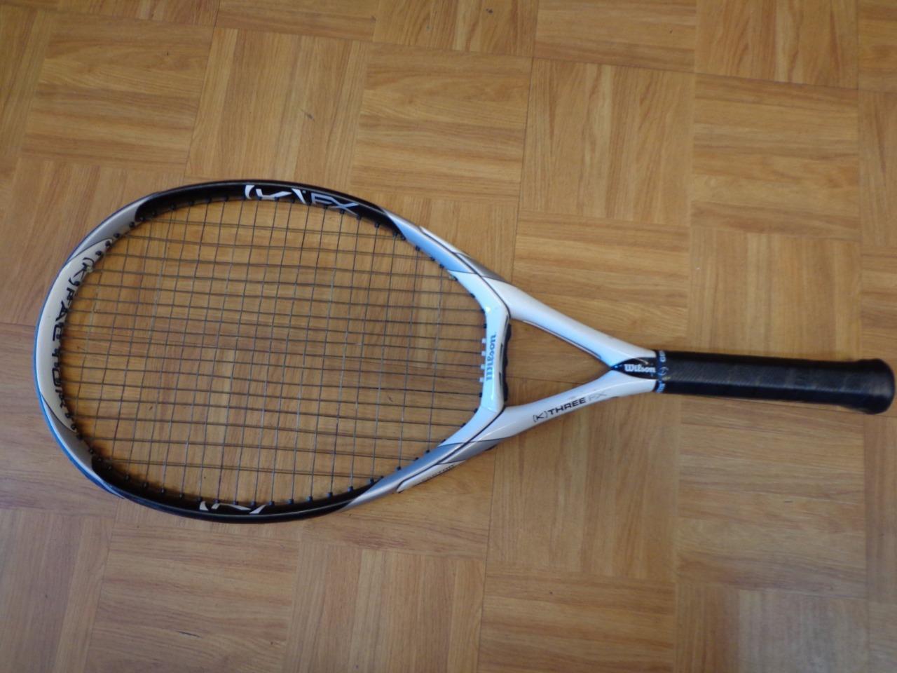 Wilson K Factor K 3 FX 115 115 115 head 4 3/8 grip Tennis Racquet 6ee4f3