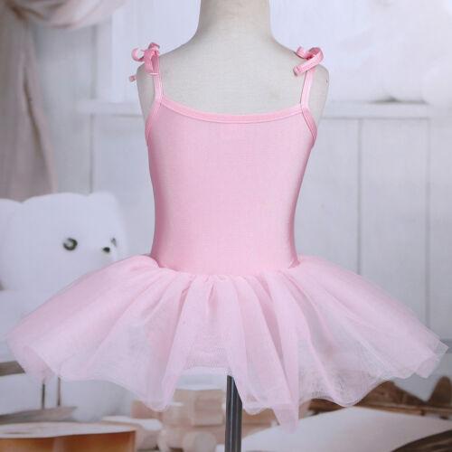 Girl Ballet Dress Gymnastics Leotard Tutu Skirt Ballerina Dancewear Swan Costume