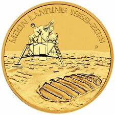 2019 - 1oz Gold Moon Landing 50th Anniversary BU - Low Mintage!