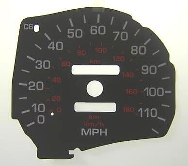 no Rest Pegs WHITE Dial Kit Lockwood Toyota MR2 Mk2 Turbo with Speedo Conv