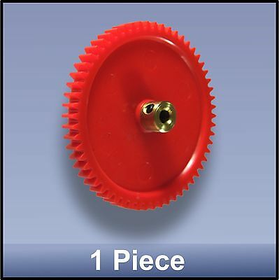 60 MM 58 TOOTH MODULE 1 PRECISION MOULDED BRASS HUB NYLON 66 GEAR - 1 piece