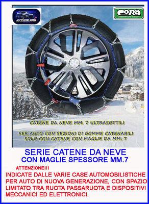 Catene da neve 7mm per Fiat  Panda 4x4 Cross pneumatico 175//65R15 1756515