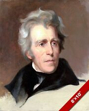 US PRESIDENT ANDREW JACKSON OLD HICKORY PAINTING ART REAL CANVAS GICLEEPRINT