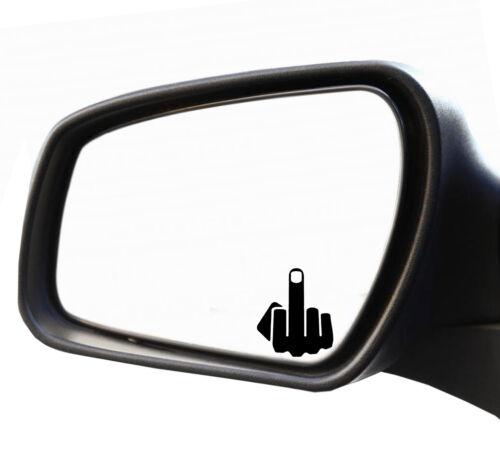 5x Mittelfinger Spiegel Nummernschild Kennzeichen Plakett Stinkefinger Aufkleber