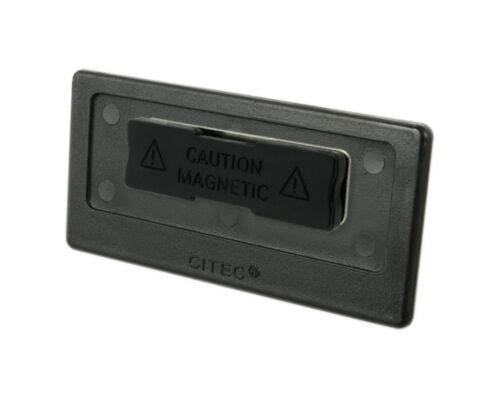 Topaktuelles Aluminium-Namenschild inkl Logo Druck Magnet silberfarbig matt