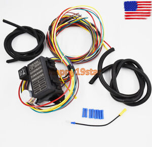 8 circuit universal wire harness muscle car hot rod street rod rat rh ebay com Automotive Wiring Harness Automotive Wiring Harness