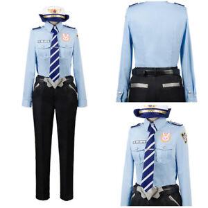 Overwatch D.VA DVA Hana Song Cosplay Costume Girl Police Office ... 5bd8eb6c51c2