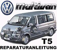 VW T5 MULTIVAN - BUS / TRANSPORTER  REPARATURANLEITUNG auf CD ab Bj.2003 ...