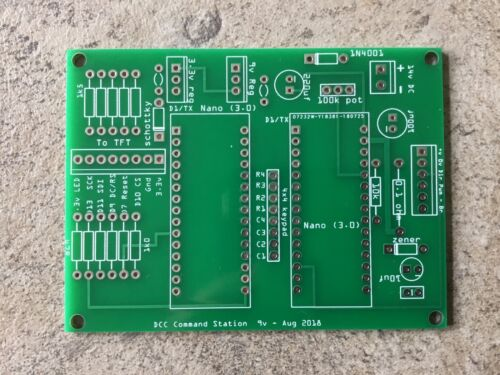 keypad PCB for Arduino DCC controller LCD TFT