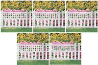 (5) Pcs Suncast Co Gvf24 24 X 20 White Grand View Garden Border Fence Fencing