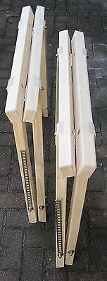 Gelernt Klappbock Holz, 2 Neue Holzböcke, Stützbock, Arbeitsbock, Schreinerbock