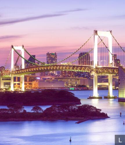 Papier peint toile rainbow bridge-papier peint papiers peints photos paysages fdb108