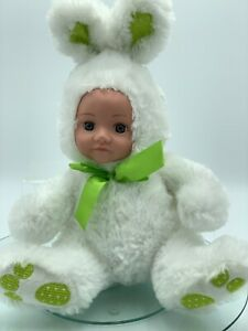 Doll-Dressed-Rabbit-Doll-Toy-Bunny-33cm-Tall-13-White-New