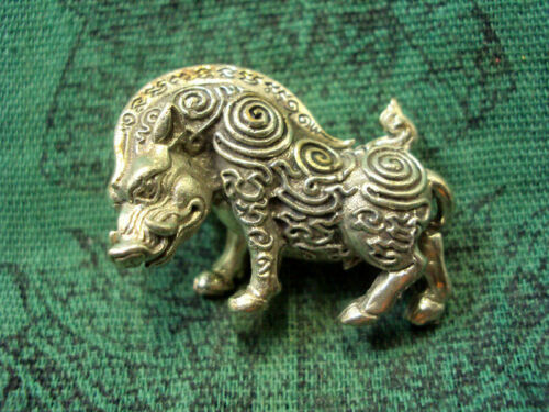 Boar Pig Statue Talisman LP Kalong Wat Kaolaem Powerful Thai Buddha Amulet