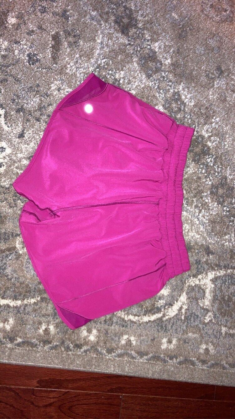 """🌼Lululemon Hotty Hot Short Size 6 Hot Pink 4"""" - image 1"""