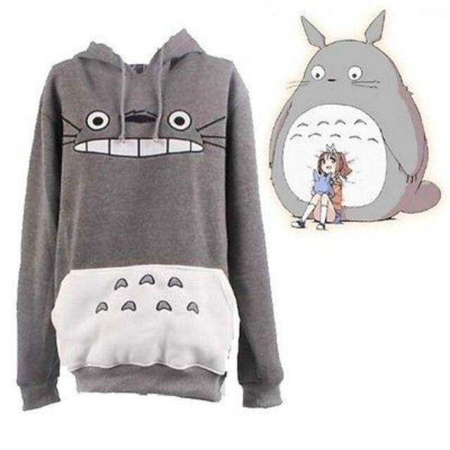 Japanese Anime My Neighbor Totoro hoodie Cute Gray Hoody