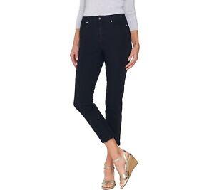 Isaac-Mizrahi-Regular-24-7-Denim-Fly-Front-Ankle-Jeans-Dark-Indigo-Size-2-QVC