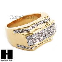 Men Bling Bling Iced Out Hip Hop Lab Diamond Ring Size 8-12 Sr024cl