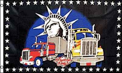 "/""TRUCKERS ONLY/"" Flag 3x5 ft polyester truck semi fleet"