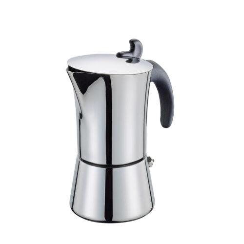 CILIO espresso Fornello Per Giovanna per 4 tazze in acciaio inox