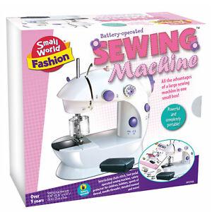Kinder-Mini-Hand-Naehmaschine-Elektrisch-Haushalt-Spielzeug-Fusspedal-Funktion-Neu
