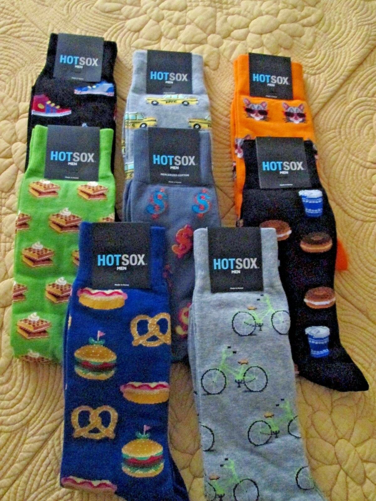 BRAND NEW  8-Pair Men's Hot Sox Wardrobe Lot shoes Sizes 6 to 12
