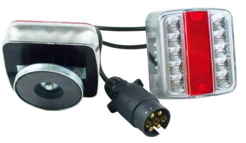 Heckträger Anhänger KFZ PKW Beleuchtung 7,5m Kabel 13pol Magnet Rückleuchten LED