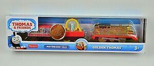 Thomas & Friends 75th Golden Thomas Fisher-Price Trackmaster Motorized Train NEW