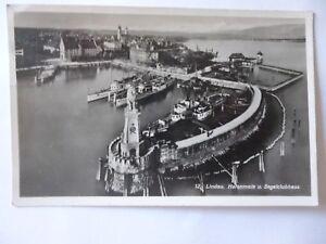 Ansichtskarte-Lindau-Hafenmole-und-Segelclubhaus-Nr-692