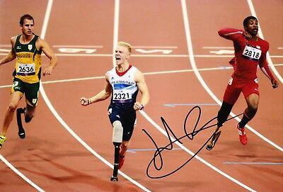 Sport Capable Jonnie Peacock Signed 12x8 Photo Paralympic Legend London 2012 Aftal Coa Sports Memorabilia c